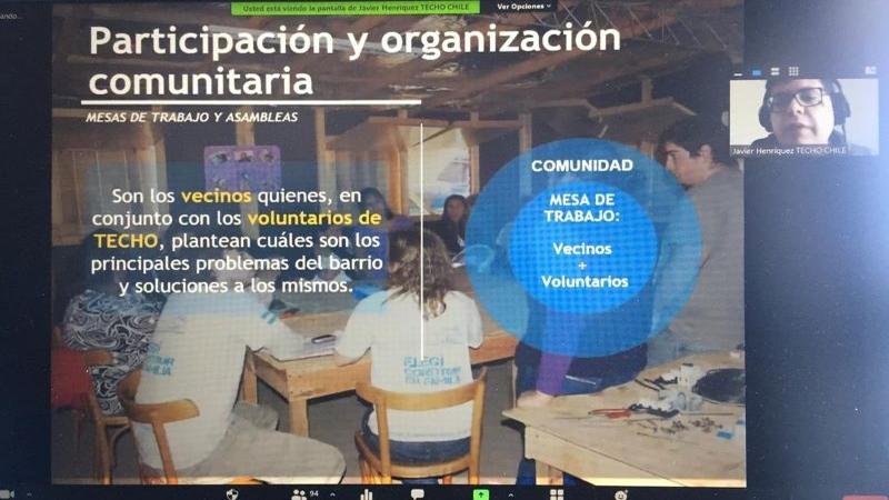 Estudiante de TNS Construcción del IPVG subió al Techo de la Solidaridad