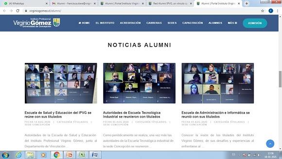 Red Alumni del IPVG cobra fuerza entre sus titulados